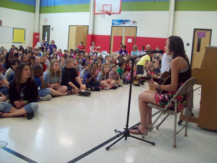 Miss Kelsey Snapp, Conservatory of the Ozarks Vocal Apprentice, performs for the students at Sunshine School in Springfield, MO on July 31st, 2010.