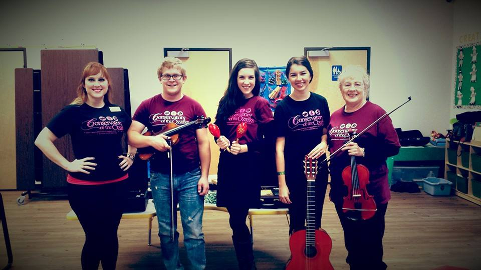 Conservatory of the Ozarks Faculty on November 19th, 2015, during a Music Education Presentation at Creative Learning Center, Springfield, MO.