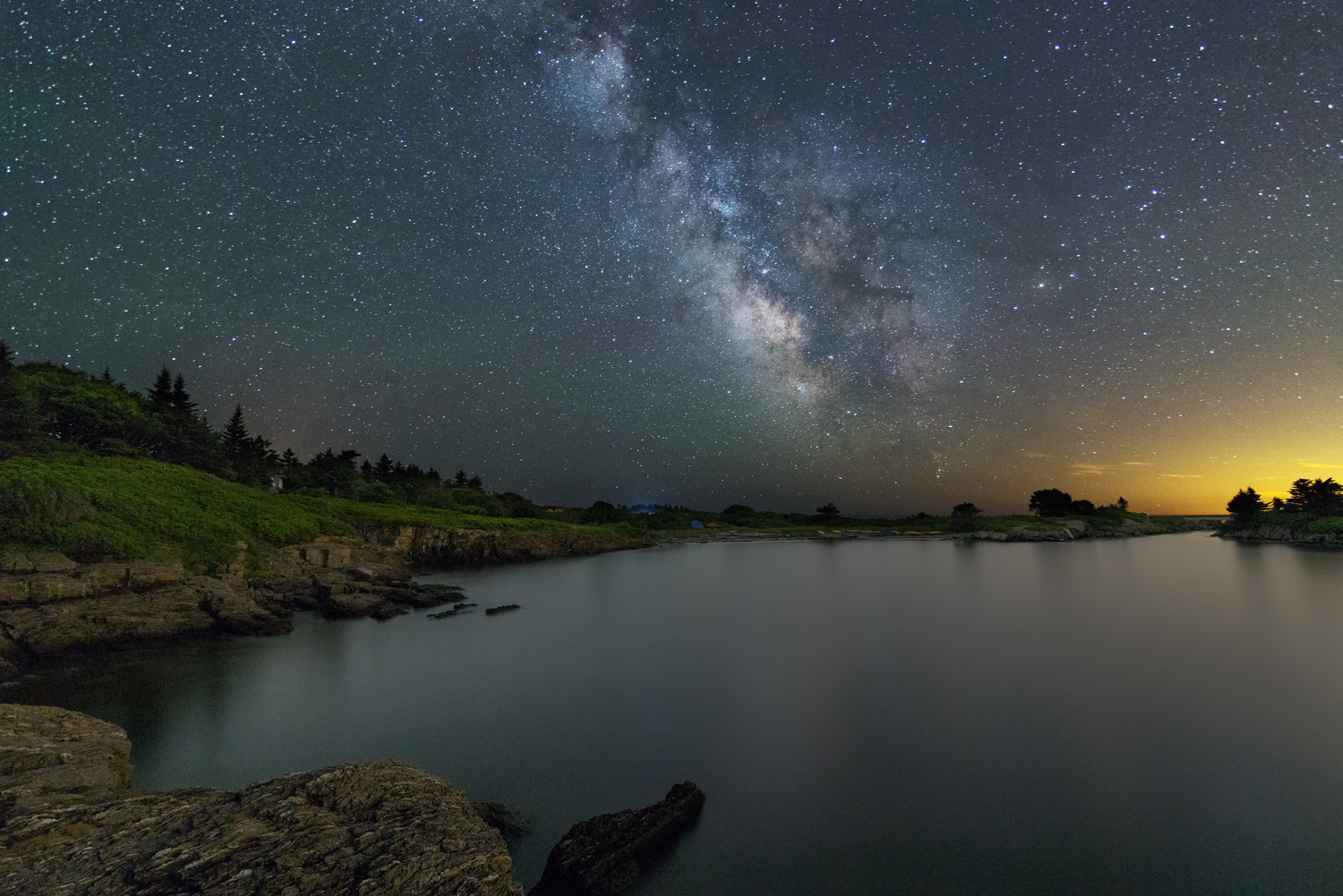 Night sky in Maine  by Jon Secord