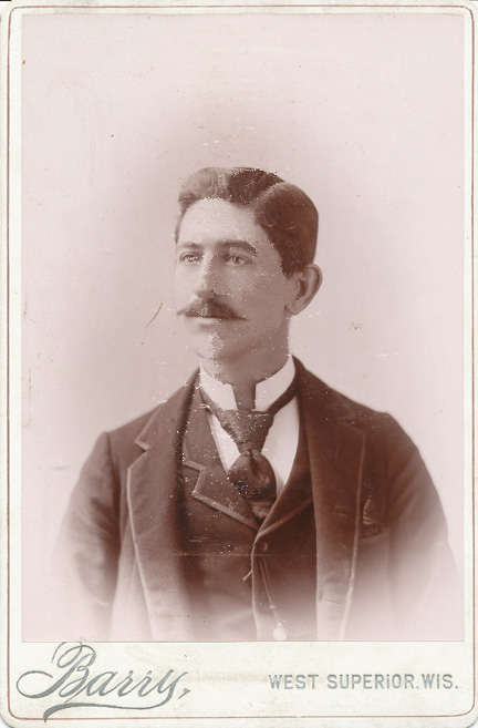 "Maurice Edward ""Ed"" Maher, Superior, Wisconsin, ca. 1892"