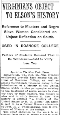 From the  New York Times , February 28, 1911, page 1