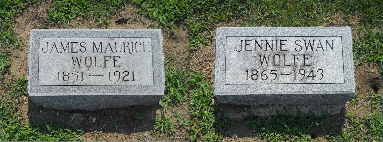 Wolfe gravestones, Tarkio Home Cemetery (Jeffrey C / Find a Grave)
