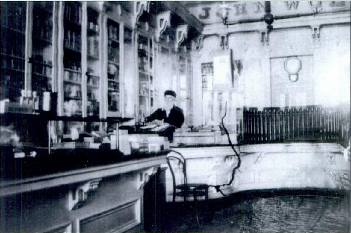 Wolfe in his drugstore (  Early San Rafael  )