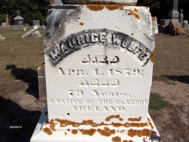 Maurice Wolfe's gravestone, Saint James Cemetery, Toronto, Iowa (Ken Wright / Find a Grave)