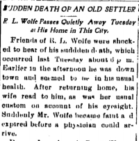 Detail from the  Carroll Sentinel  of Carroll, Iowa, June 14, 1904, page 1