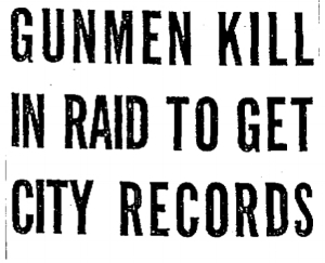 Headline from the  Chicago Tribune , March 10, 1930, page 1