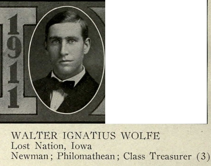 from the State University of Iowa yearbook, 1911