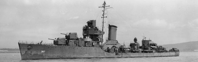 USS  Blue   , off Mare Island, California, ca. April 11, 1942