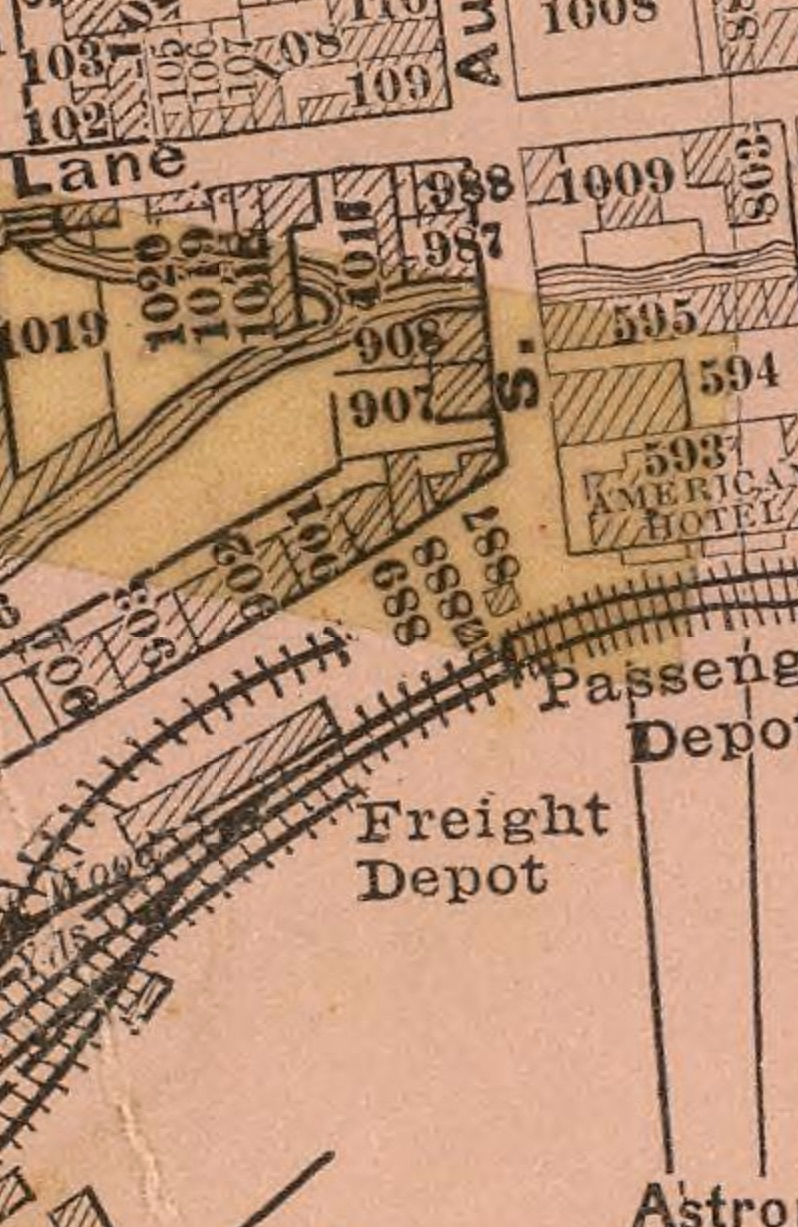 From a   map of Staunton   by   Jedediah Hotchkiss   (1877)