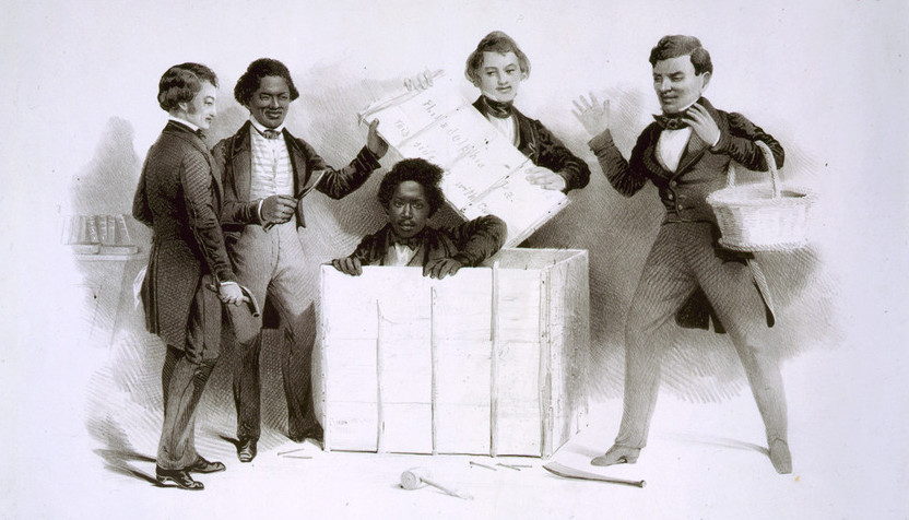 The Resurrection of Henry Box Brown at Philadelphia      (Library of Congress)