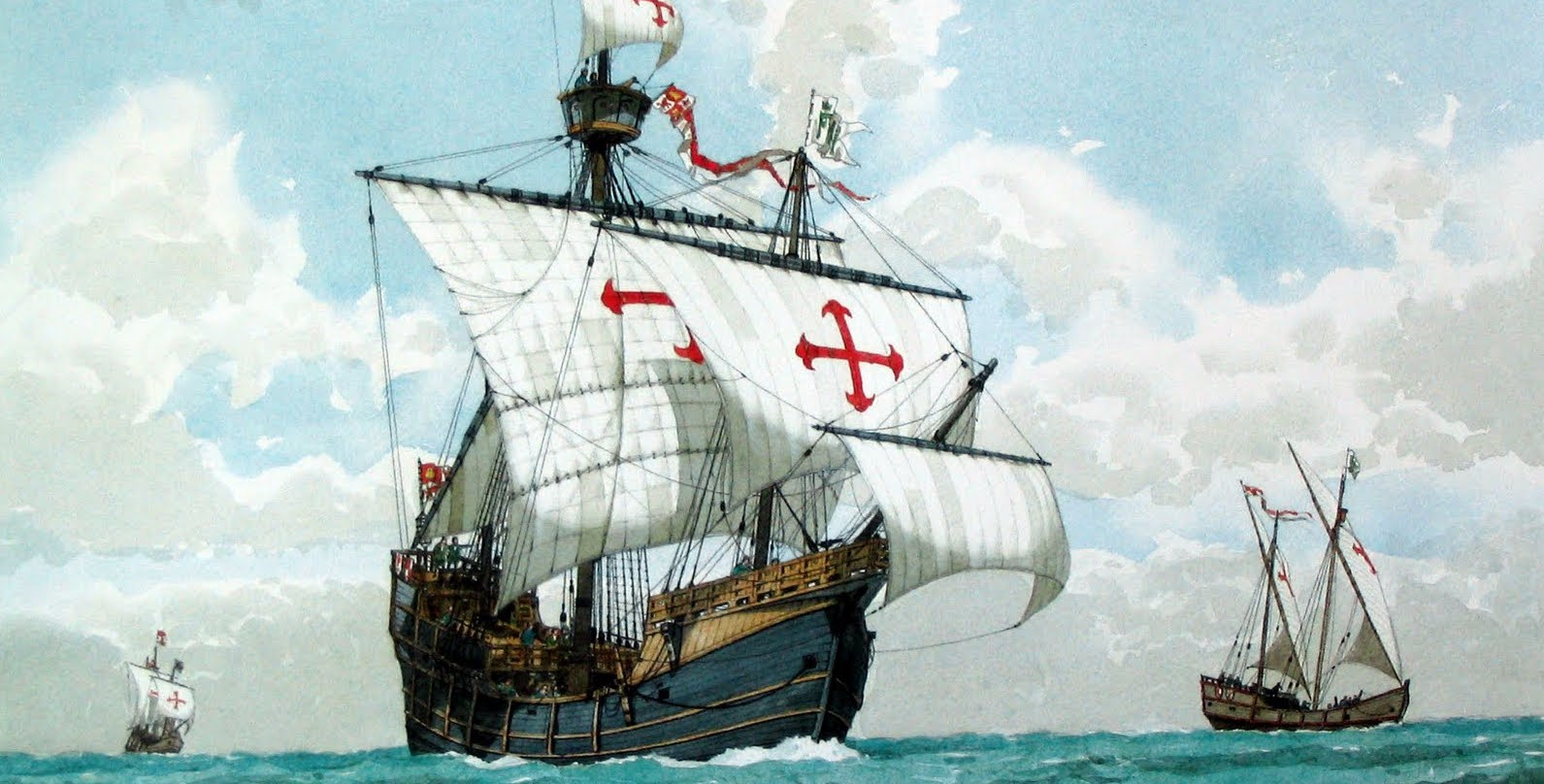 Spanish caravels in the time of Columbus