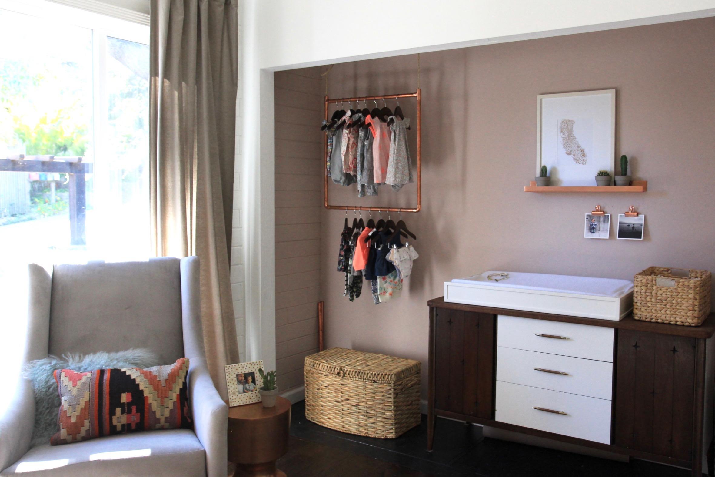The closet nook.