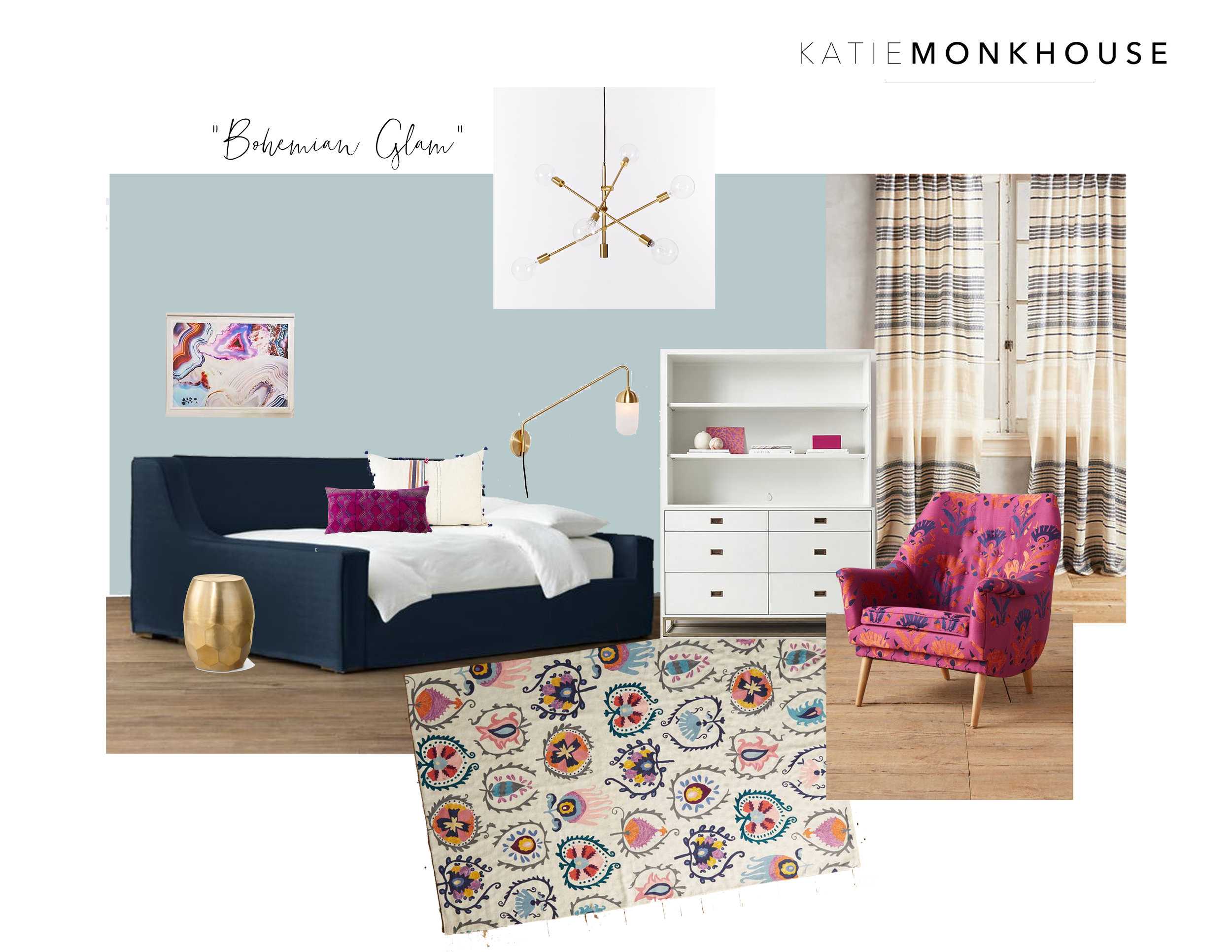 Modern Tween Bedroom by Katie Monkhouse