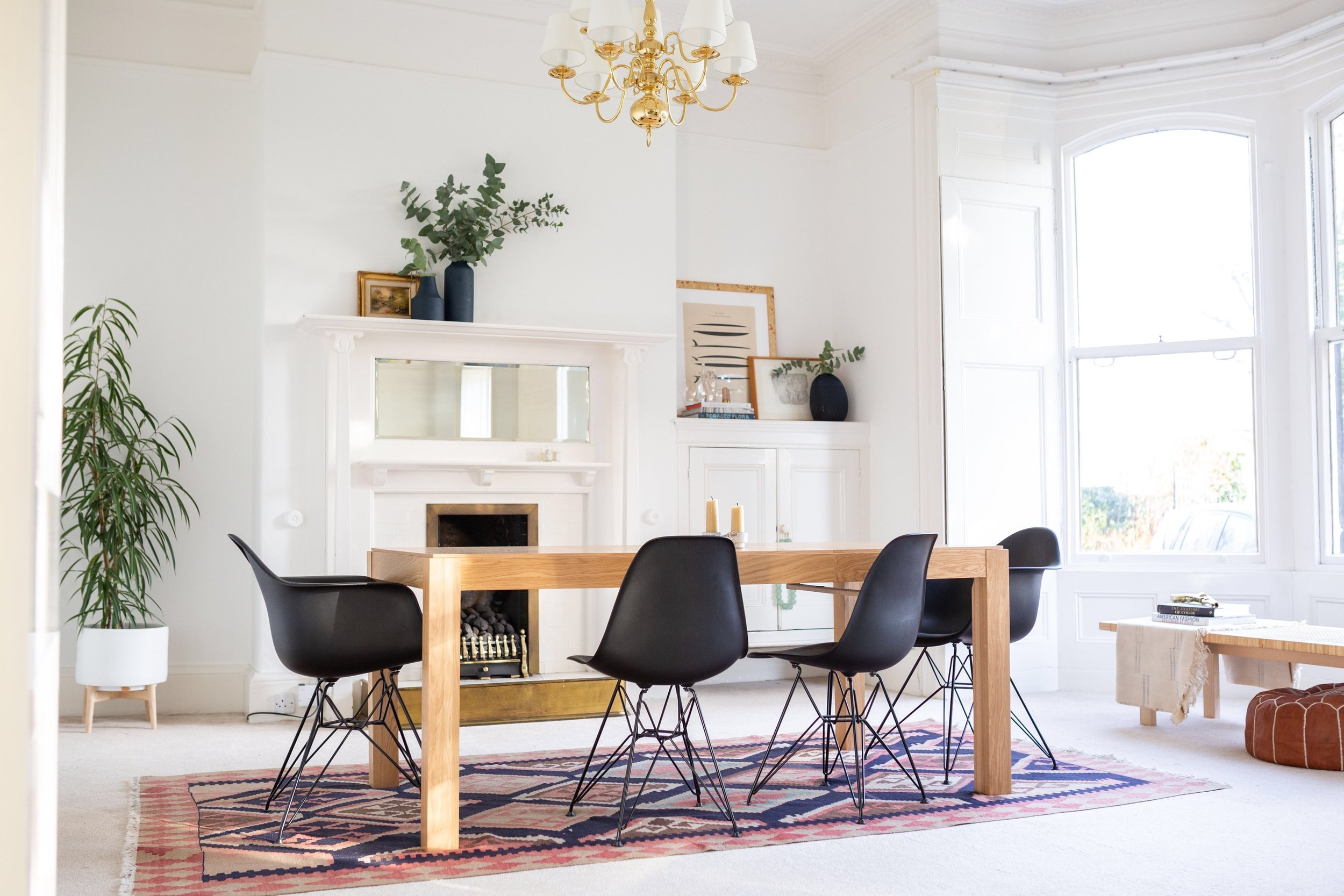 Our black Eames eiffel chairs looking right as home in this victorian