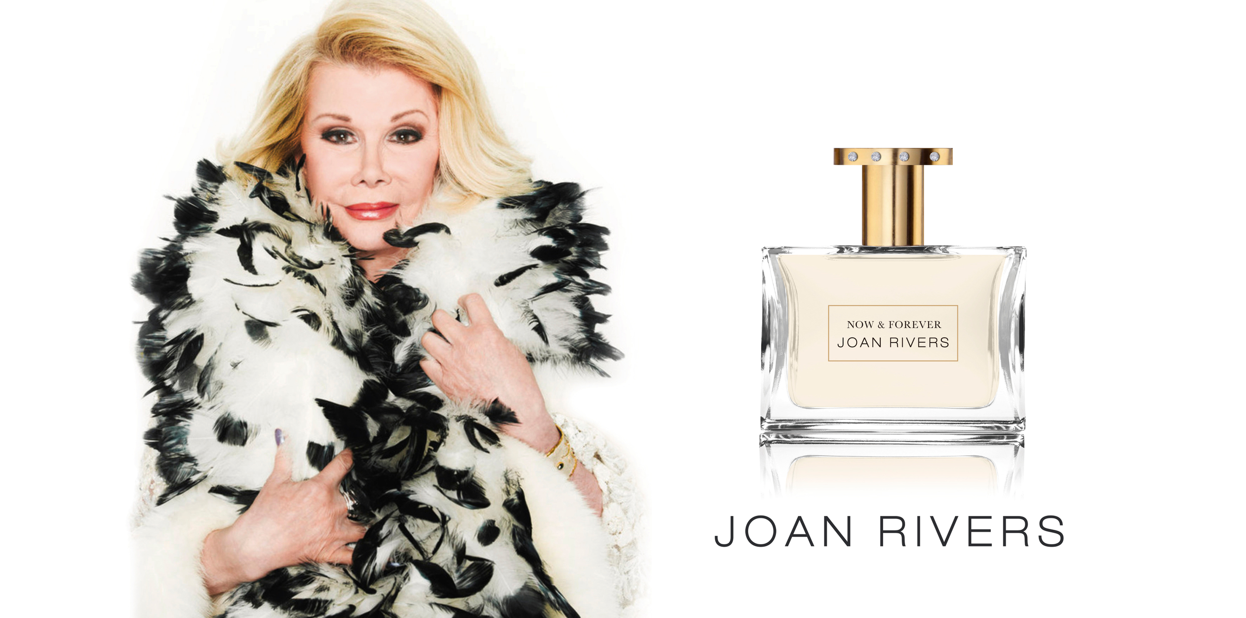 'Now and Forever' by Joan Rivers.   Client:  QVC   We Provided:  PACKAGING, BRAND DEVELOPMENT.