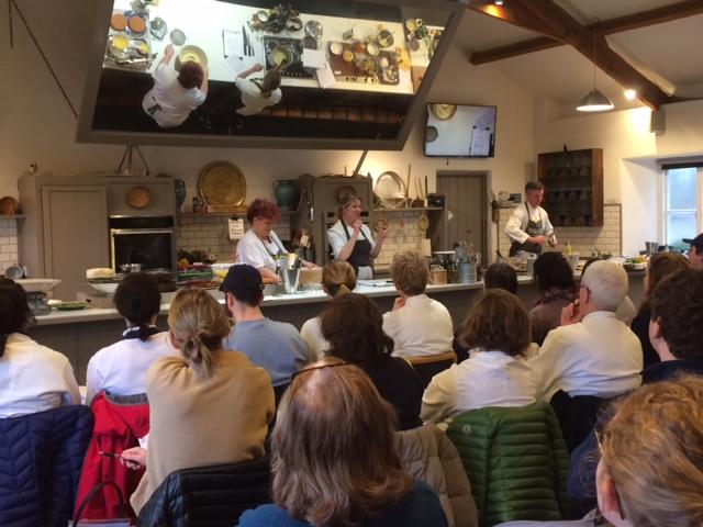 A cooking demonstration at Ballymaloe.