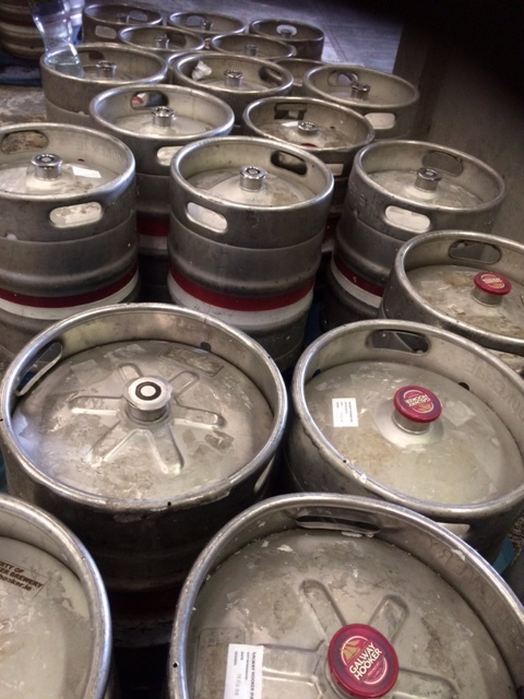 Kegs waiting for delivery from the warehouse in Oranmore.