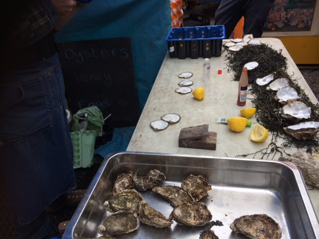 Michaels wares for selling oysters.