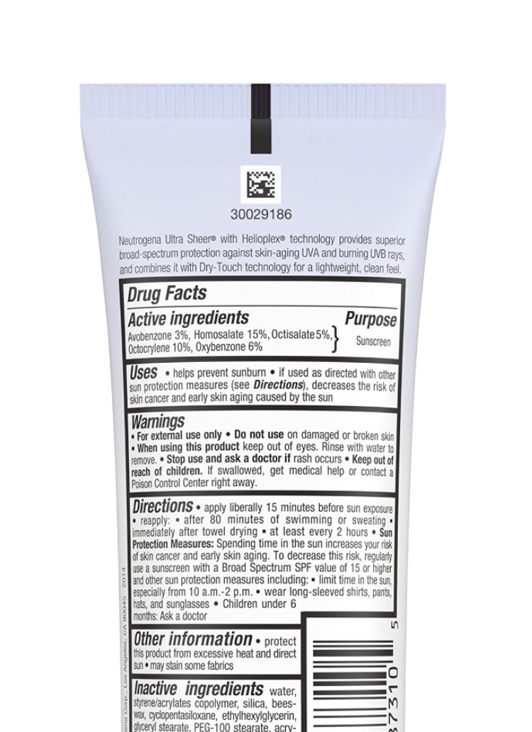 Neutrogena Ultra Sheer Dry-Tough Sunscreen Broad Spectrum 100, their two pack is Amazon's #1 Best Seller