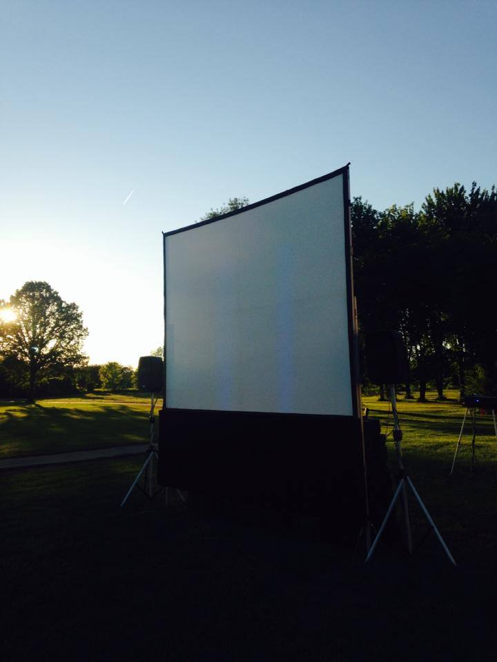 PROJECTOR SCREENS (Indoors & Outdoors)
