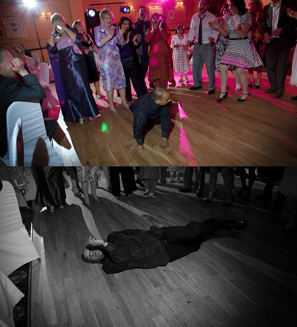 I've been caught with THIS one before…….here's a tip:  If you ever see some kind of seizure on the dancefloor, give it a second or two before you attempt CPR.  Turns out they're usually dancing.