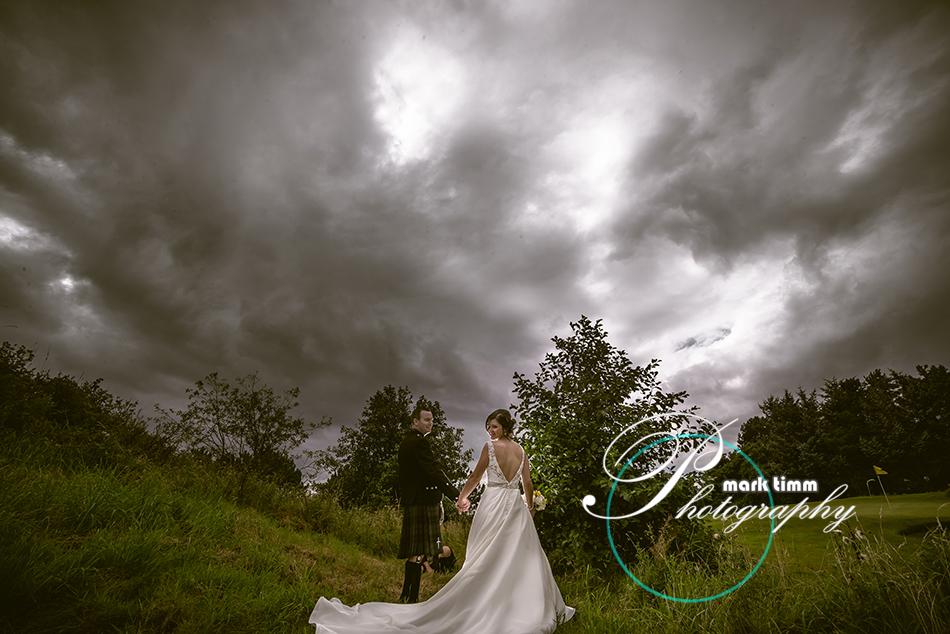 dramatic wedding photography ayr
