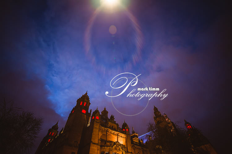 Kelvingrove Art Gallery spooky themed wedding Glasgow