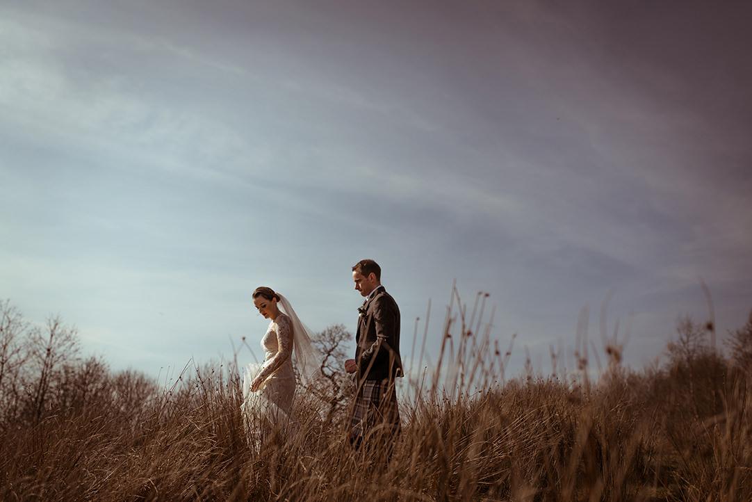 creative alternative moody romantic wedding photography scenery scotland glasgow