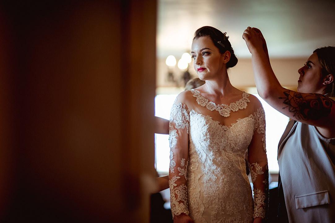 vintage bride scotland photo