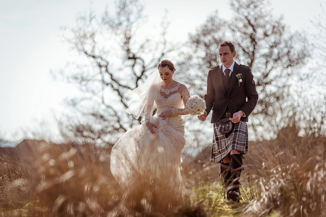romantic scottish landscape wedding photography alternative glasgow