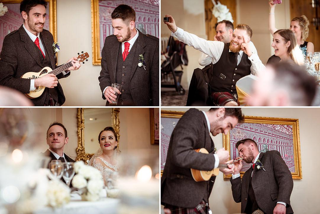 funny wedding speeches glenskirlie scotland photography