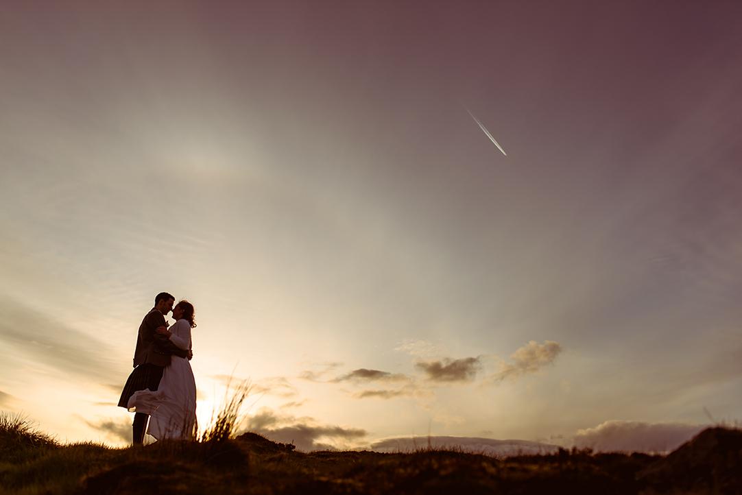 sunset amazing wedding photographer scotland landscape scenery