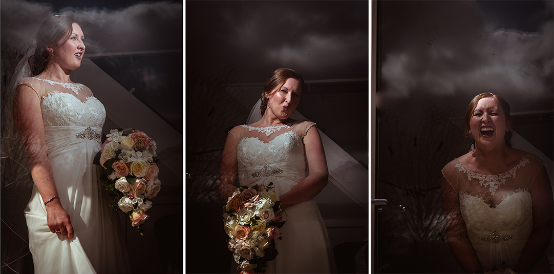 creative wedding photographer scotland glasgow laughing bride