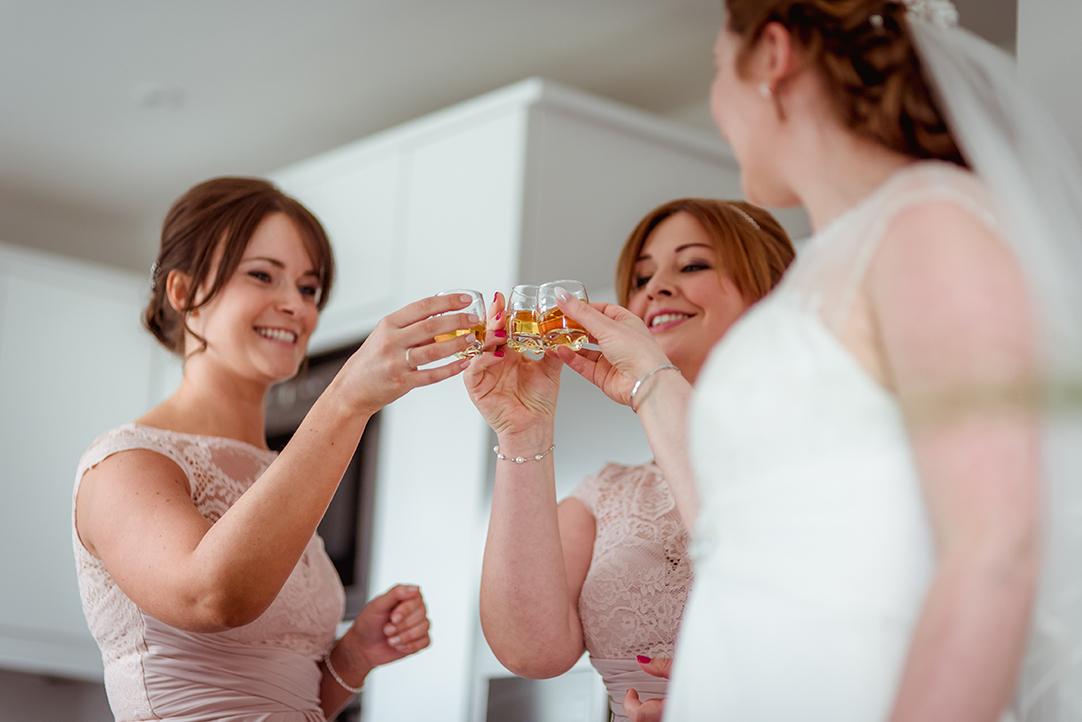 cheers wedding shot glasses