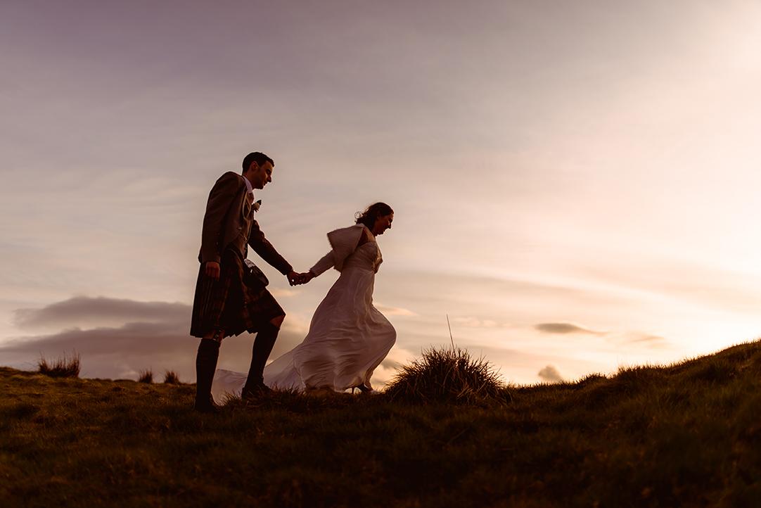 romantic wedding photography scotland outdoor scenery the vu