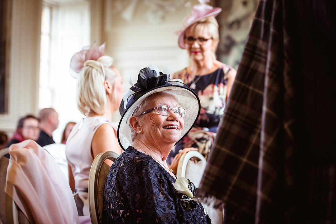 natural wedding photography grandmother