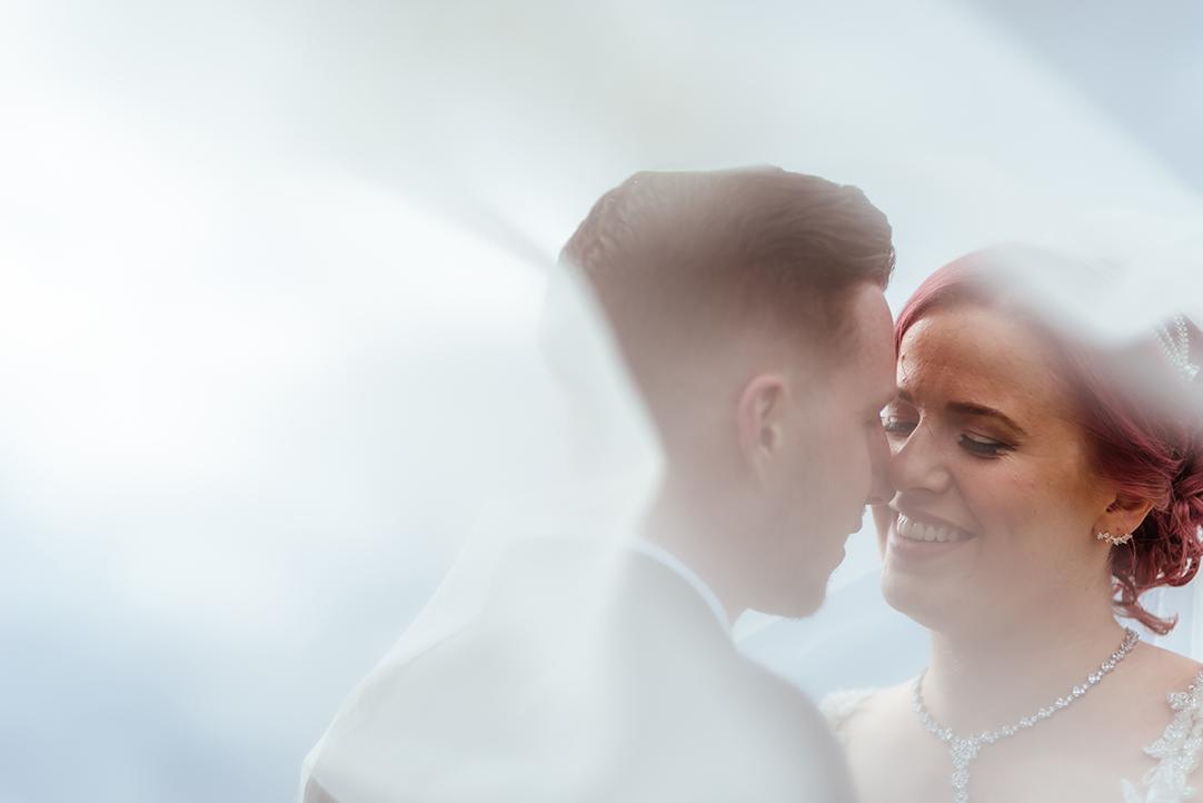 wedding veil scotland intimate photography