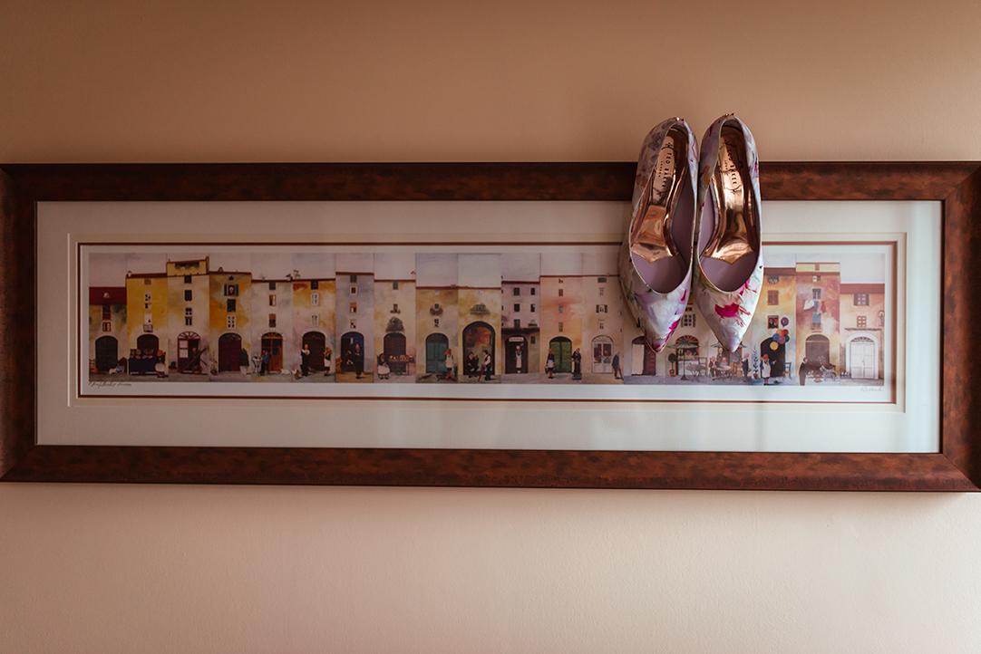 flower pattern wedding shoes