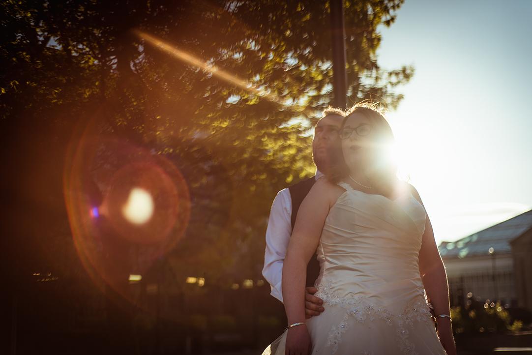 wedding sunset in greenock gourock