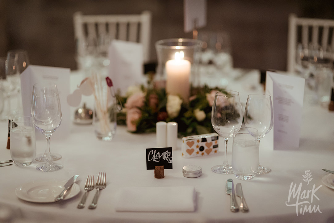 wedding table decorations perthshire