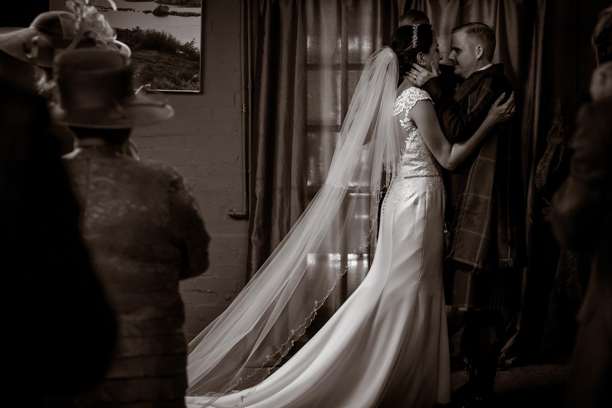 black and white weddings scotland