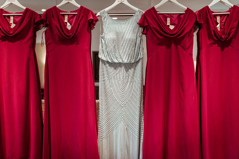 red bridesmaid dress scotland