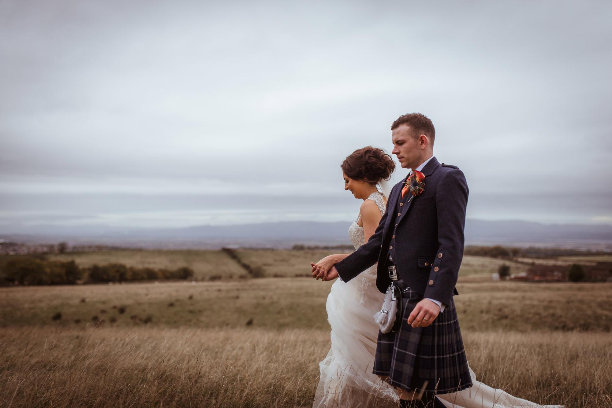 creative wedding photographer falkirk