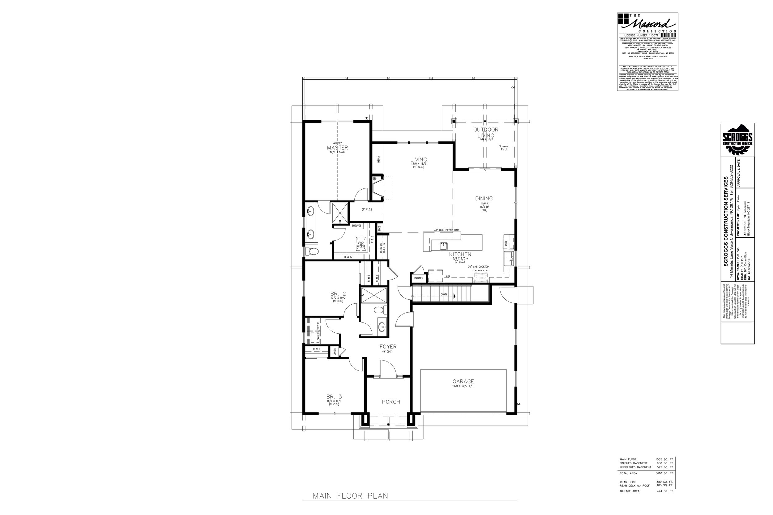 Spec House Asheville Floor Plan
