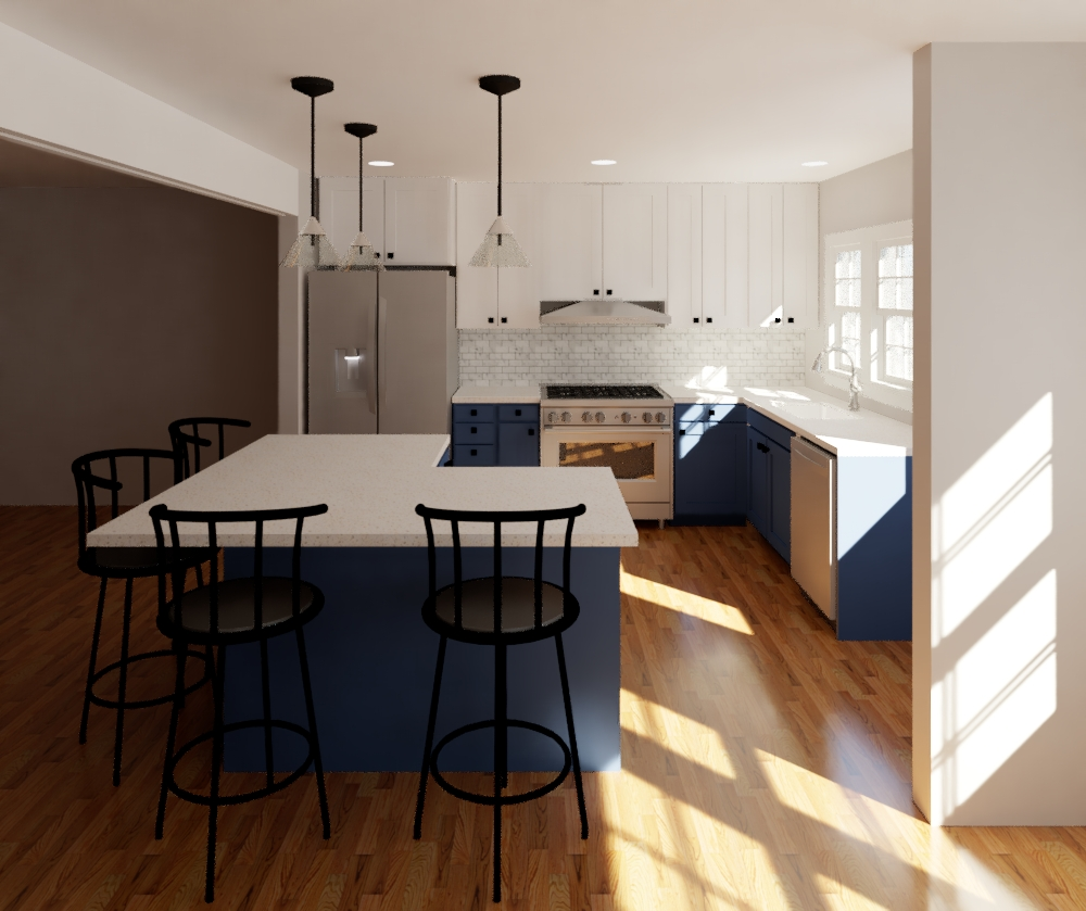 Kitchen Remodel Rendering