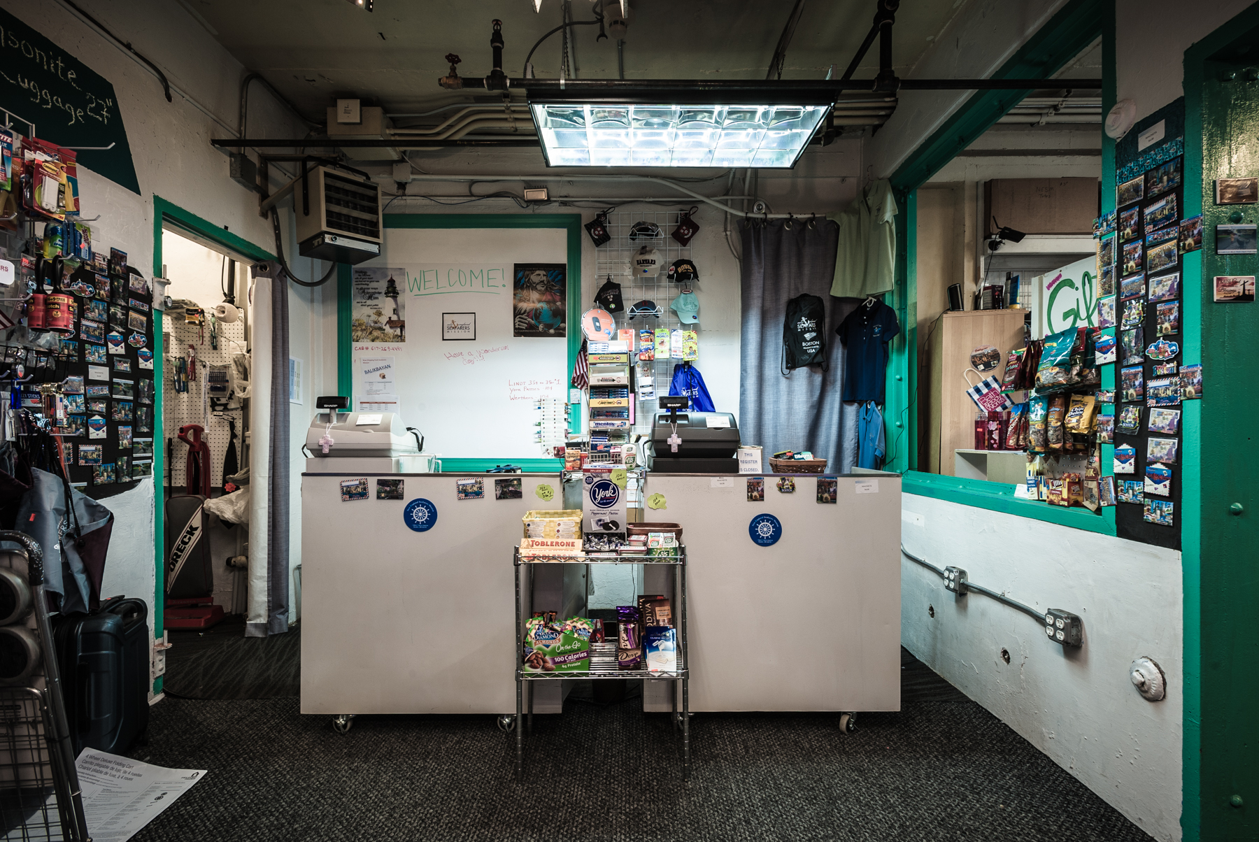 A small commissary on the first floor sells snacks and trinkets from around the world