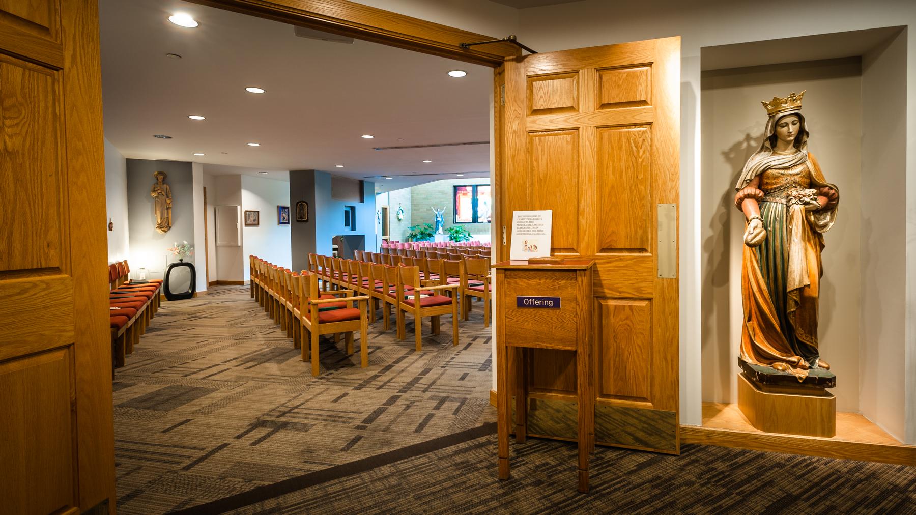 The chapel lobby