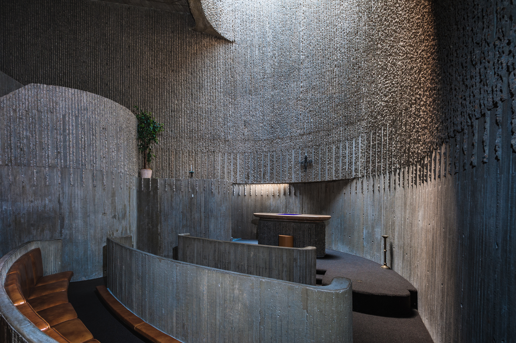 - Designed by architect Paul Rudolph as a progressive mental health center and opened in 1971,the chapel in the Erich Lindemann Mental Health Center was added late in the planning process.