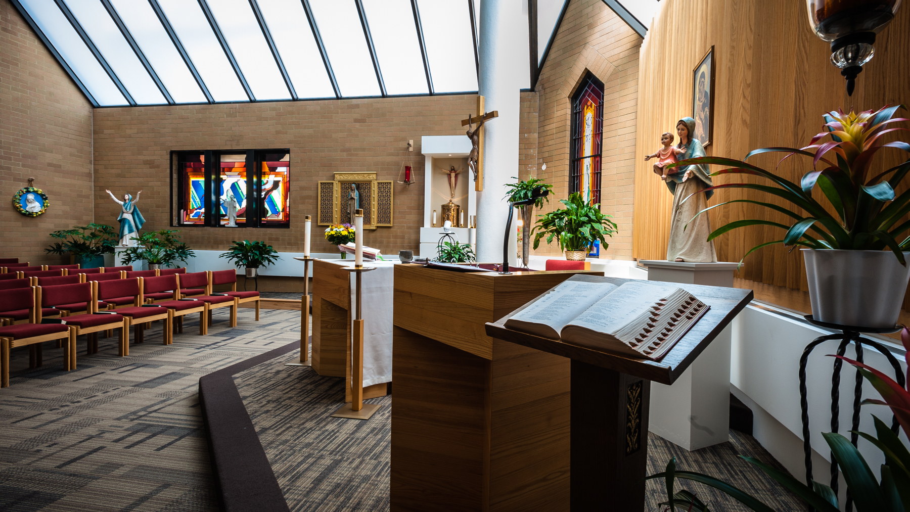 - A Catholic Chapel and an Interfaith Chapel sit several floors apart at St. Elizabeth's Hospital in Brighton.