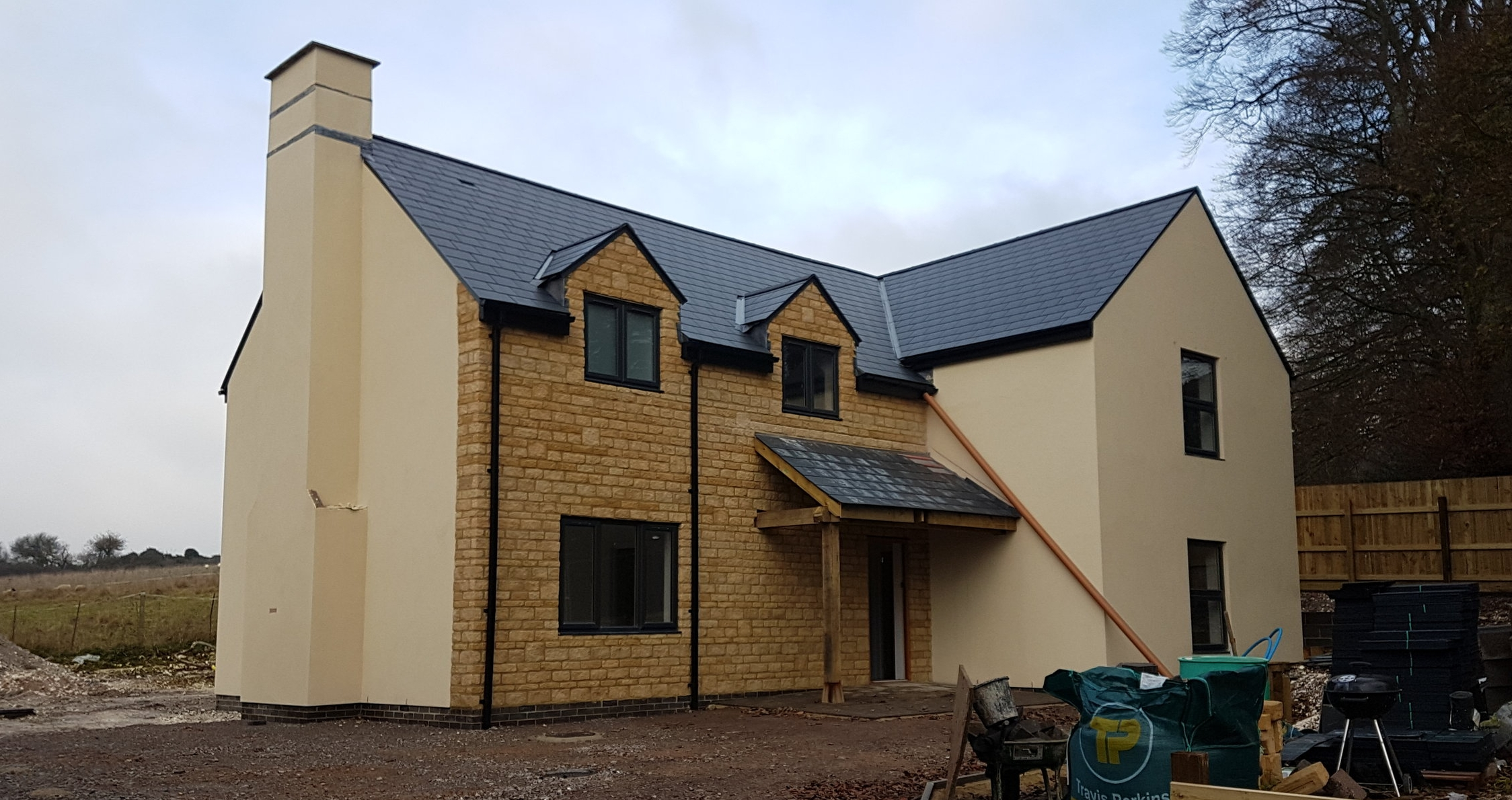 Works to a new dwelling at Charminster, Dorset to be completed in the next few months.